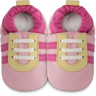 【英國 shooshoos】健康無毒真皮手工鞋/學步鞋/嬰兒鞋_粉紅佳人(102824)