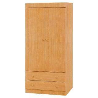 【Bernice】納特2.7尺二門二抽衣櫃