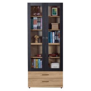 【AT HOME】高爾2.7尺橡木紋雙門下抽書櫃