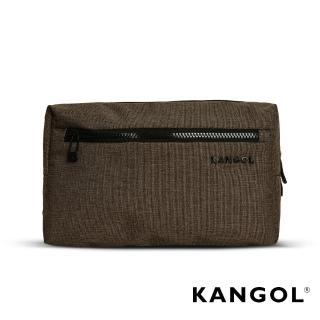 【KANGOL】韓國經典側背休閒包/學生包/情侶包(混織棕 KG1152-45)