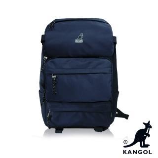 【KANGOL】英式時尚登山高機能大容量13吋筆電層後背包(藍 KG1106-08)