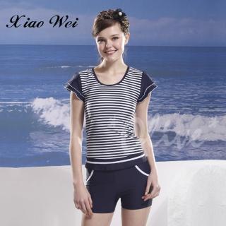 【泳之美】時尚短袖二件式泳裝(NO.2258)   泳之美