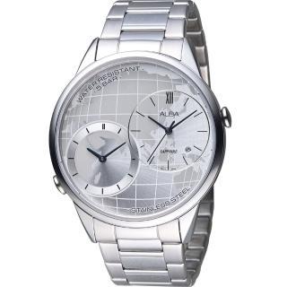 【ALBA 雅柏】街頭酷流行日系潮流大錶徑腕錶(DM03-X002S 銀 AZ9013X1)