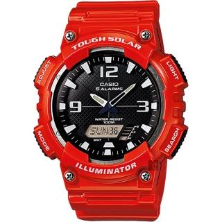 【CASIO】卡西歐 太陽能電力雙顯錶-紅(AQ-S810WC-4AVDF)