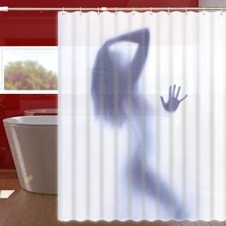繽紛特級加厚防潑水浴簾-性感女神(加不鏽鋼浴簾桿)