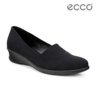 【ECCO】FELICIA 舒適輕便休閒鞋(黑 21704351052)