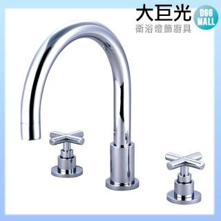 【大巨光】浴用檯面雙槍水龍頭_3件式(TAP-112003)