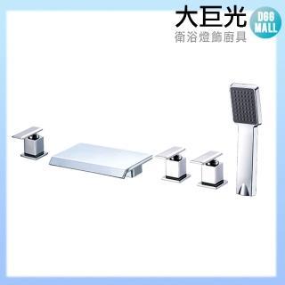 【大巨光】浴用檯面雙槍水龍頭_5件式_不鏽鋼(TAP-112075)