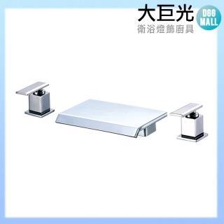 【大巨光】浴用檯面雙槍水龍頭_3件式_不鏽鋼(TAP-112084)