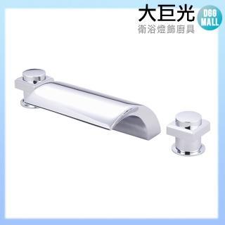 【大巨光】浴用檯面雙槍水龍頭_3件式_不鏽鋼(TAP-112106)