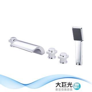 【大巨光】浴用檯面雙槍水龍頭_5件式_不鏽鋼(TAP-112107)