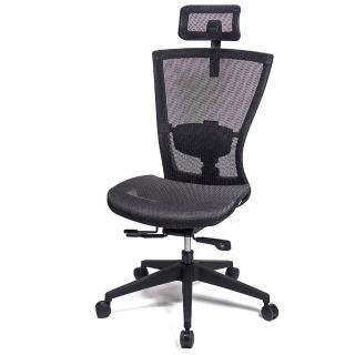【aaronation 愛倫國度】頂級高韌性高背頭枕全網電腦椅(AM-813)