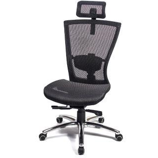 【aaronation 愛倫國度】頂級高韌性高背頭枕金屬底電腦椅(AM-813)