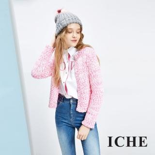 【ICHE 衣哲】針織毛線開襟衫 兩色