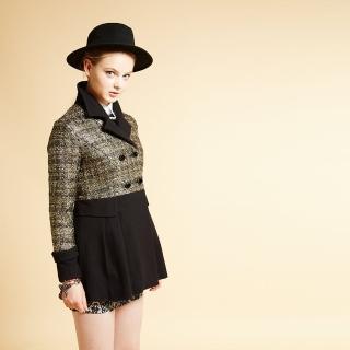 【ICHE 衣哲】ICHE衣哲 羊毛翻領雙排釦造型長版外套
