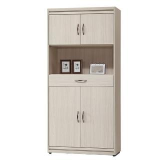 【AS】肯尼思2.7尺木門書櫃
