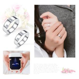【GIUMKA】925純銀情侶對戒 攜手相伴純銀戒指 單個價格 MRS06027(銀色)