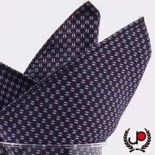 【極品西服】紫/棗紅提花口袋方巾(YH5005)