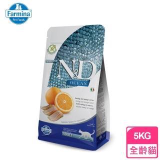 【Farmina法米納】ND挑嘴成貓天然無榖糧-鯡魚甜橙(5KG)