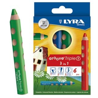 【德國LYRA】GROOVE 3合1 胖胖三角洞洞筆(6色)