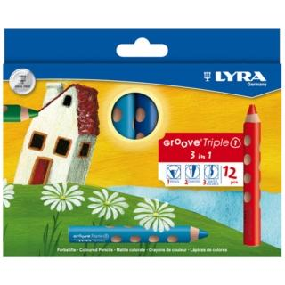 【德國LYRA】GROOVE 3合1 胖胖三角洞洞筆(12色)