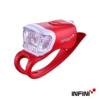 【INFINI】ORCA I-204W 鯨魚USB充電式白光警示燈(紅)