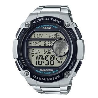 【CASIO】10年電池金屬色系數位腕錶(AE-3000WD-1A)