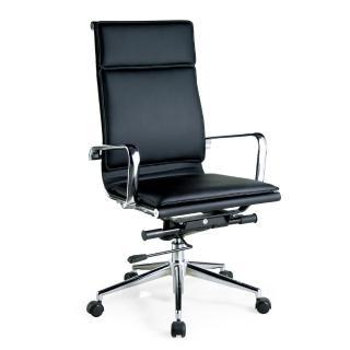 【AS】卡麥隆質感皮革後仰氣壓辦公椅
