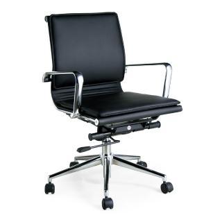 【AS】卡爾文質感皮革後仰氣壓辦公椅