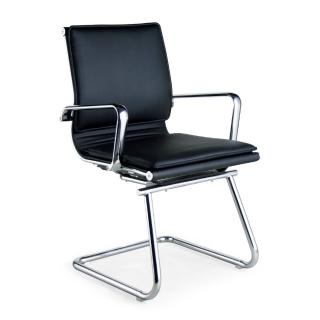 【AS】強尼質感皮革弓型辦公椅