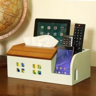 【C&B】古木調面紙遙控器收納盒