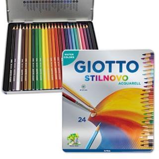 【義大利GIOTTO】STILNOVO 水溶性色鉛筆(24色鐵盒)