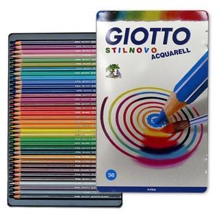【義大利GIOTTO】STILNOVO 水溶性色鉛筆(36色鐵盒)