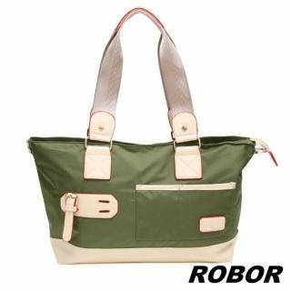 【韓系型男ROBOR】韓版休閒百搭中性尼龍側背包旅行包(軍綠)