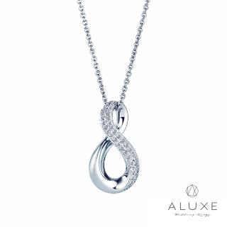 【A-LUXE 亞立詩】18K金 Knot永恆愛戀 美鑽項鍊