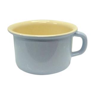 【奧地利RIESS】琺瑯寬口馬克杯10cm / 0.4L-淺藍色(咖啡杯/琺瑯杯)