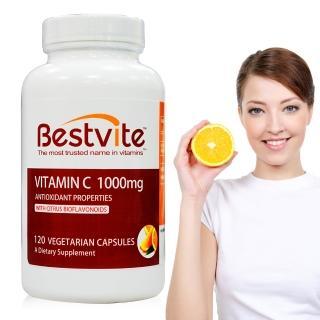 【美國BestVite】必賜力左旋維生素C-1000膠囊1瓶(120顆)