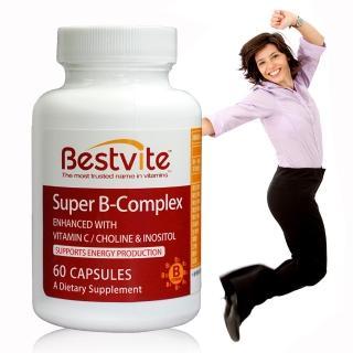 【美國BestVite】必賜力超級維生素B群膠囊1瓶(60顆)