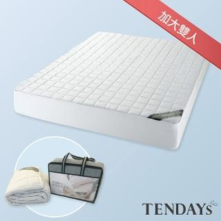 【TENDAYS】備長炭床包型保潔墊(加大雙人 6尺)