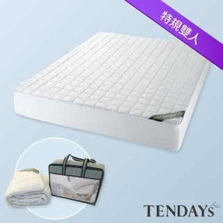 【TENDAYS】備長炭床包型保潔墊(特規雙人 7尺)