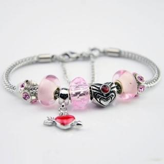~米蘭 ~潘朵拉元素串珠手鍊 飾品^(水晶粉紅色系列 甜美母親節情人節生日 73ay161