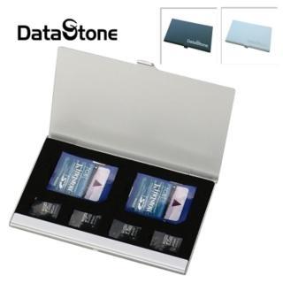 【Datastone】超薄型Slim鋁合金(2SD+4TF 多功能記憶卡收納盒)