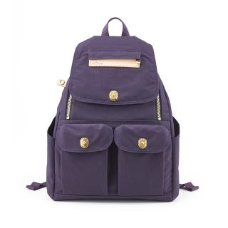 【satana】小拉鍊後背包(紫色)