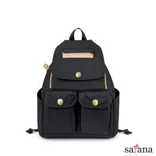 【satana】小拉鍊後背包(黑色)