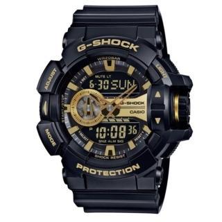 【CASIO/G-SHOCK】完美街頭雙顯運動錶/黑*金(GA-400GB-1A9DR)