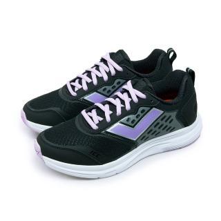 【PONY】女 輕量透氣慢跑鞋 AR-1000 動感輕盈系列(黑紫 71W1AR01BK)