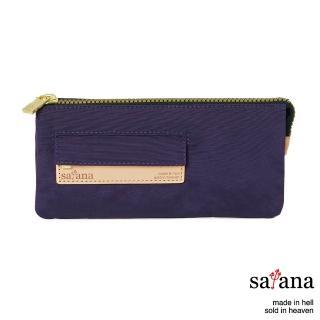 【satana】多夾層拉鍊長夾(紫色)