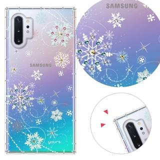 【YOURS】三星 Galaxy S7edge/A7-2017/J7 Prime 奧地利水晶彩繪防摔手機鑽殼-雪戀(Note4)