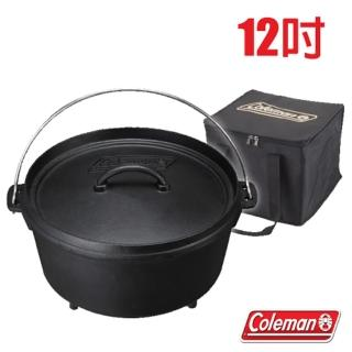 【美國 Coleman】SF荷蘭鍋 /12吋_原廠公司貨.鑄鐵鍋 可搭配焚火台.荷蘭鍋架使用/適烤肉.登山露營(CM-9391)