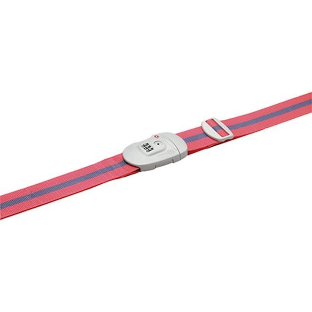 【Go Travel】TSA鎖 撞色行李綁帶-粉紅+藍
